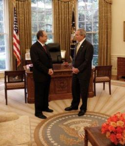 John and President Bush